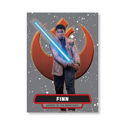 Finn 2016 Star Wars The Force Awakens Chrome Metal Poster - # to 99