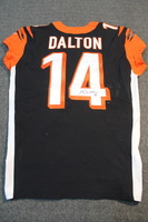 CRUCIAL CATCH - BENGALS ANDY DALTON SIGNED AND GAME WORN BENGALS JERSEY (OCTOBER 29, 2017) SIZE 44