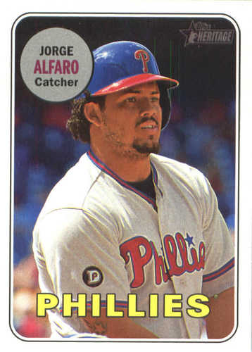 Photo of 2018 Topps Heritage #352 Jorge Alfaro