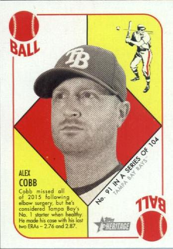 Photo of 2015 Topps Heritage '51 Collection #91 Alex Cobb