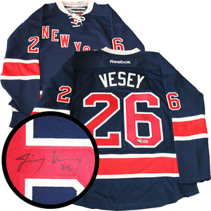 35b803f7c Jimmy Vesey Signed Jersey Rangers Replica 3rd Blue 2016-2017 ReebokJimmy  Vesey Signed Jersey Rangers Replica 3rd Blue 2016-2017 Reebok