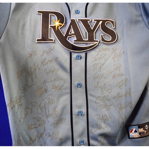 Photo of Rays Baseball Foundation Auction: 2013 Rays Team Signed Autographed Replica Columbia Jersey - Size XL