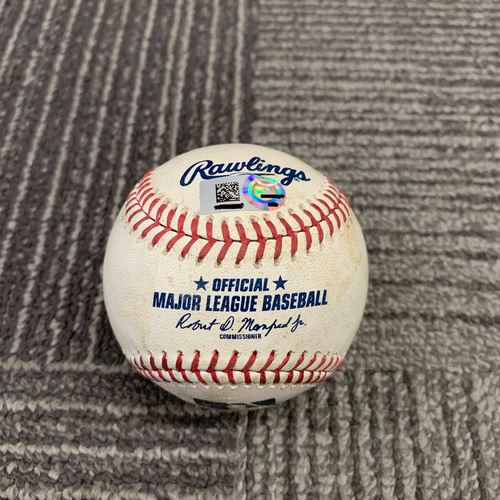 Photo of 2019 Game Used Baseball - 5/15 vs. Toronto Blue Jays - T-5: Shaun Anderson to Vladimir Guerrero Jr. - Ball 1