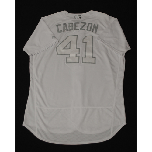 "Photo of Junior ""CABEZON"" Guerra Milwaukee Brewers Game-Used 2019 Players' Weekend Jersey"