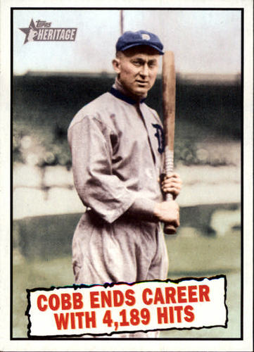 Photo of 2010 Topps Heritage #407 Ty Cobb BT