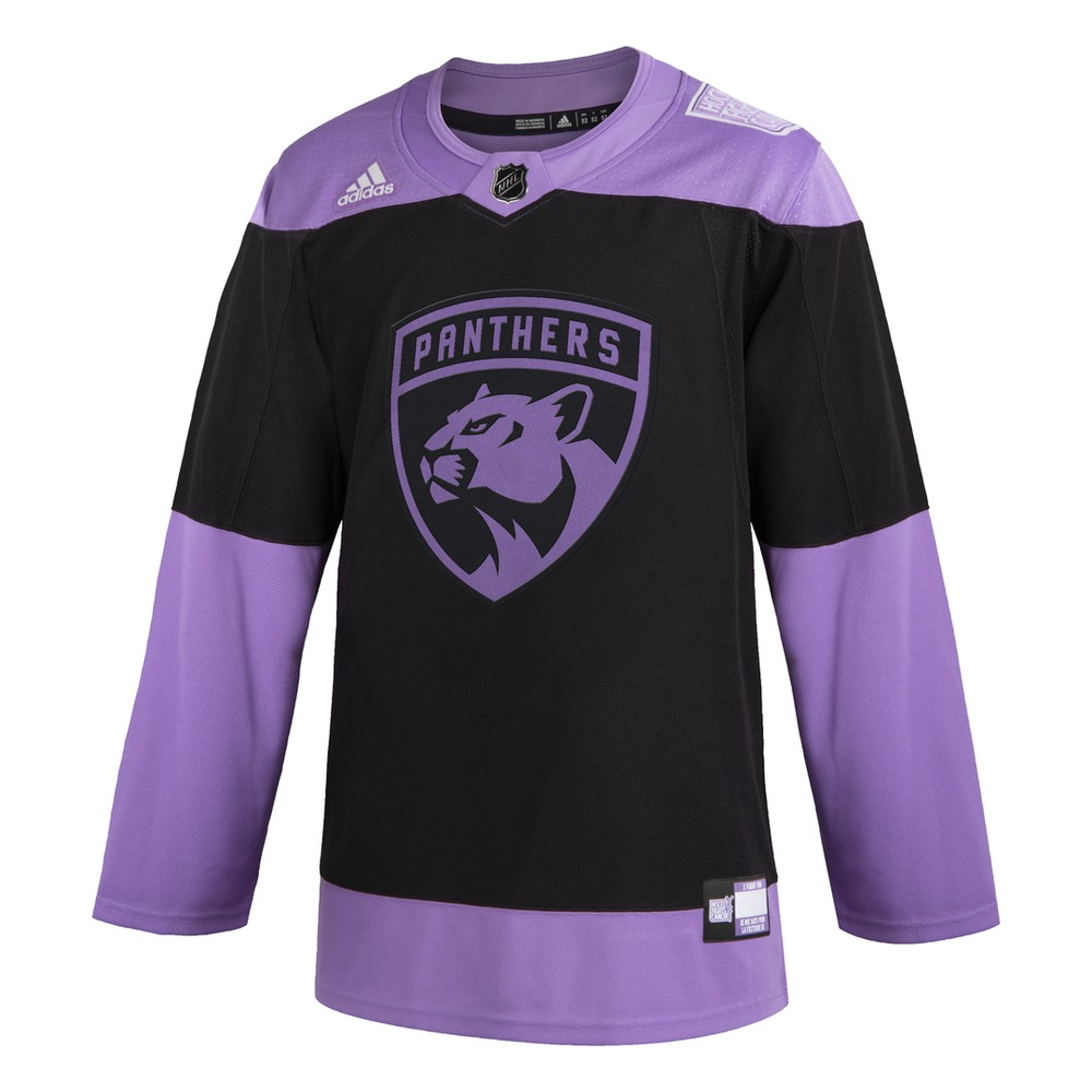 #19 Mike Matheson Warm-Up Worn and Autographed Hockey Fights Cancer Jersey