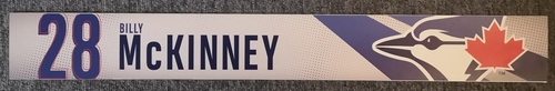 Photo of Authenticated Game Used Locker Name Plate: #28 Billy McKinney (2019 Regular Season)