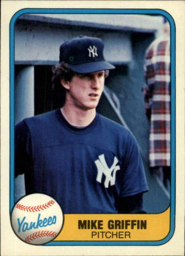 Photo of 1981 Fleer #107 Mike Griffin RC