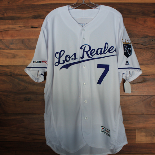 Photo of Game-Used Jersey: Pedro Grifol (Size 48 - KC vs MIN 6/21/19)