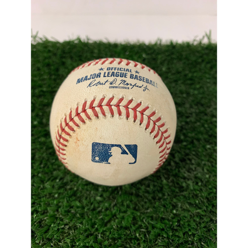 Photo of Tyler Flowers Game Used Hit Single Baseball - April 14, 2019
