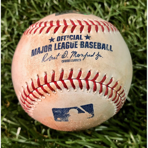 Photo of Game Used Baseball: Shohei Ohtani Cycle Game - Ji-Man Choi strikeout, Austin Meadows strikeout and Avisail Garcia at-bat against Cam Bedrosian - June 13, 2019 v LAA
