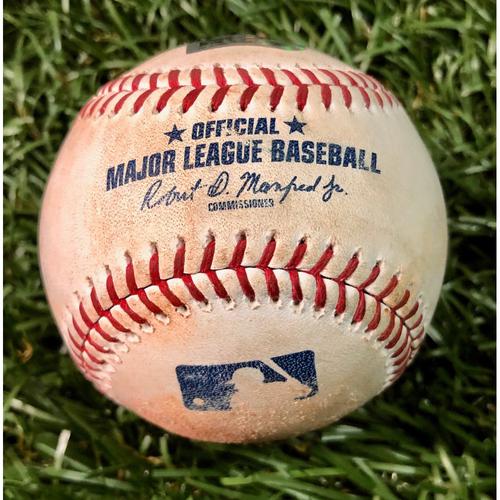 Game Used Baseball: Shohei Ohtani Cycle Game - Ji-Man Choi strikeout, Austin Meadows strikeout and Avisail Garcia at-bat against Cam Bedrosian - June 13, 2019 v LAA