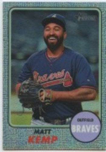 Photo of 2017 Topps Heritage Chrome Purple Refractors #THC411 Matt Kemp