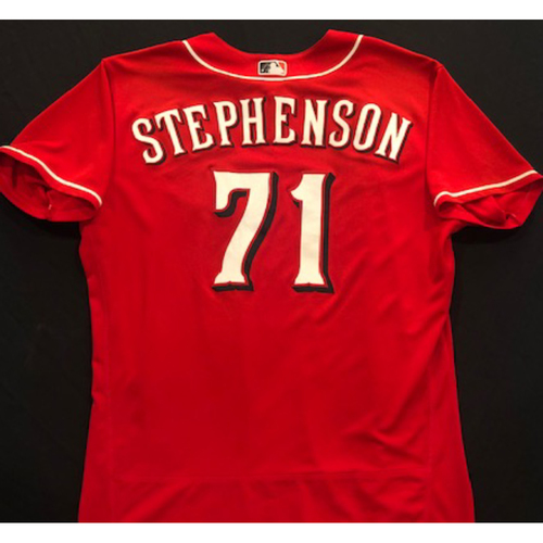 Photo of Tyler Stephenson -- 2020 Spring Training Jersey -- Team-Issued -- Size 50