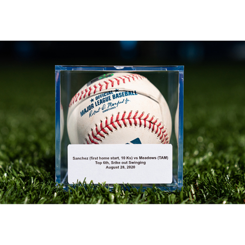 Photo of Promote the Vote: Game Used Sixto Sanchez Baseball - Strikeout