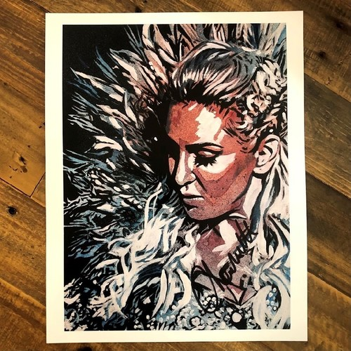 Charlotte Flair SIGNED 11 x 14 Rob Schamberger Print