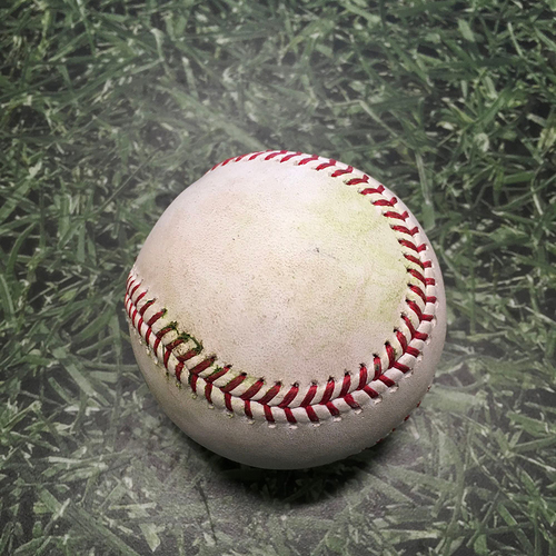 Photo of Game-Used Baseball CWS@MIL 07/25/21 - Brandon Woodruff - Lance Lynn: 2-Run Single (Lynn's First Hit Since 09/28/17)