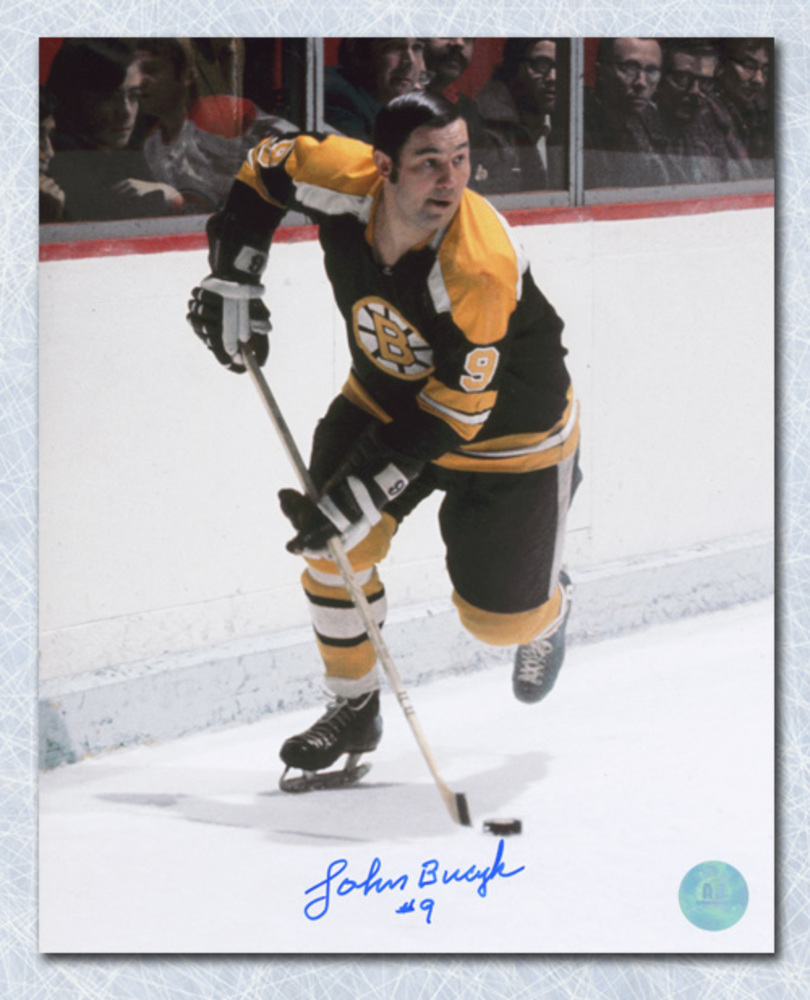 Johnny Bucyk Boston Bruins Autographed Playmaker 8x10 Photo