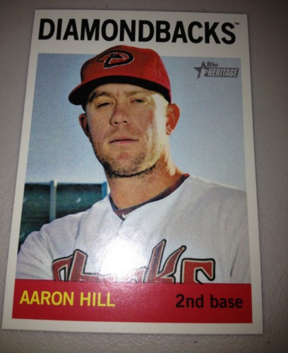 Photo of 2013 Topps Heritage #489 Aaron Hill SP