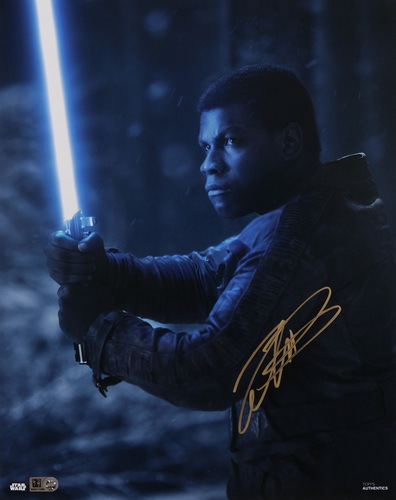 John Boyega as Finn Autographed Gold Ink 11x14 Photo