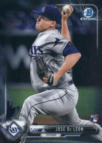 Photo of 2017 Bowman Chrome #75A Jose De Leon RC