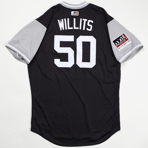 "Photo of Reggie ""Willits"" Willits New York Yankees Game-Used Jersey 2018 Players' Weekend Jersey"