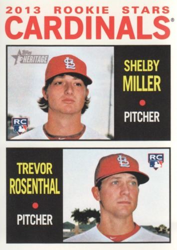 Photo of 2013 Topps Heritage #262 Shelby Miller RC/Trevor Rosenthal (RC)