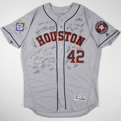 2019 Jackie Robinson Day Jersey - Houston Astros Team Autographed Jersey