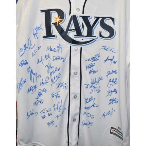 Photo of Rays Baseball Foundation Auction: 2017 Rays Team Signed Autographed Replica Jersey - Size XL