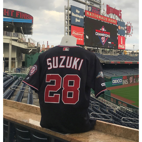 Photo of 2019 NLDS/NLCS Game-Used Jersey: Kurt Suzuki