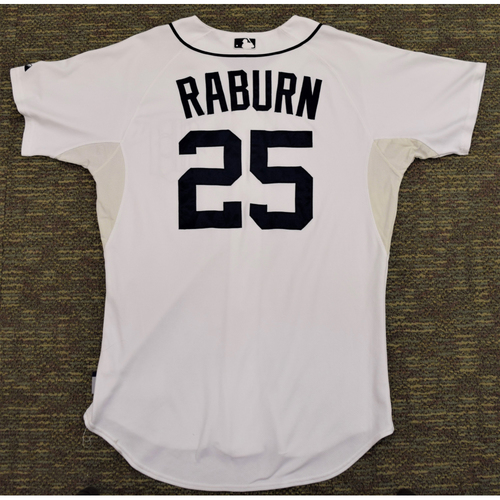 Photo of Ryan Raburn Game Worn Detroit Tigers #25 Home Jersey (NOT MLB AUTHENTICATED)