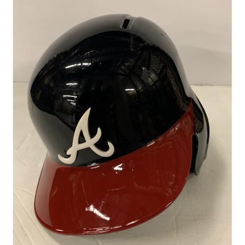 Photo of Mike Foltynewicz Game Used Postseason Helmet - Worn 10/4/19