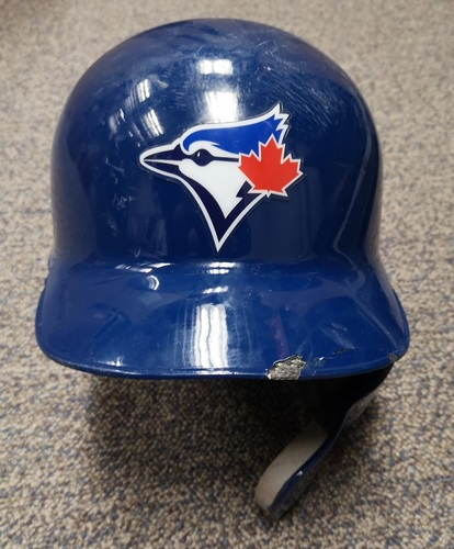 Photo of Authenticated Game Used Helmet - #11 Bo Bichette (Jul 29, 19: 1-for-4). MLB Debut and 1st Major League Hit. Size 7 1/4