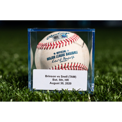 Photo of Promote the Vote: Game Used Baseball: Lewis Brinson - Home Run