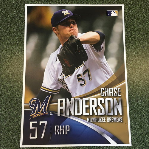 Photo of Milwaukee Brewers Chase Anderson Team-Issued Sign (LOCAL PICKUP ONLY)