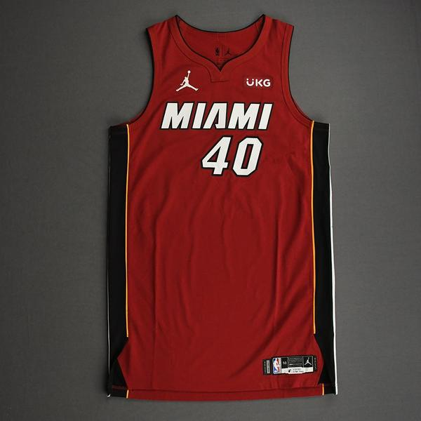 Image of Udonis Haslem - Miami Heat - Game-Worn - Statement Edition Jersey - Christmas Day 2020 - Dressed, Did Not Play (DNP)