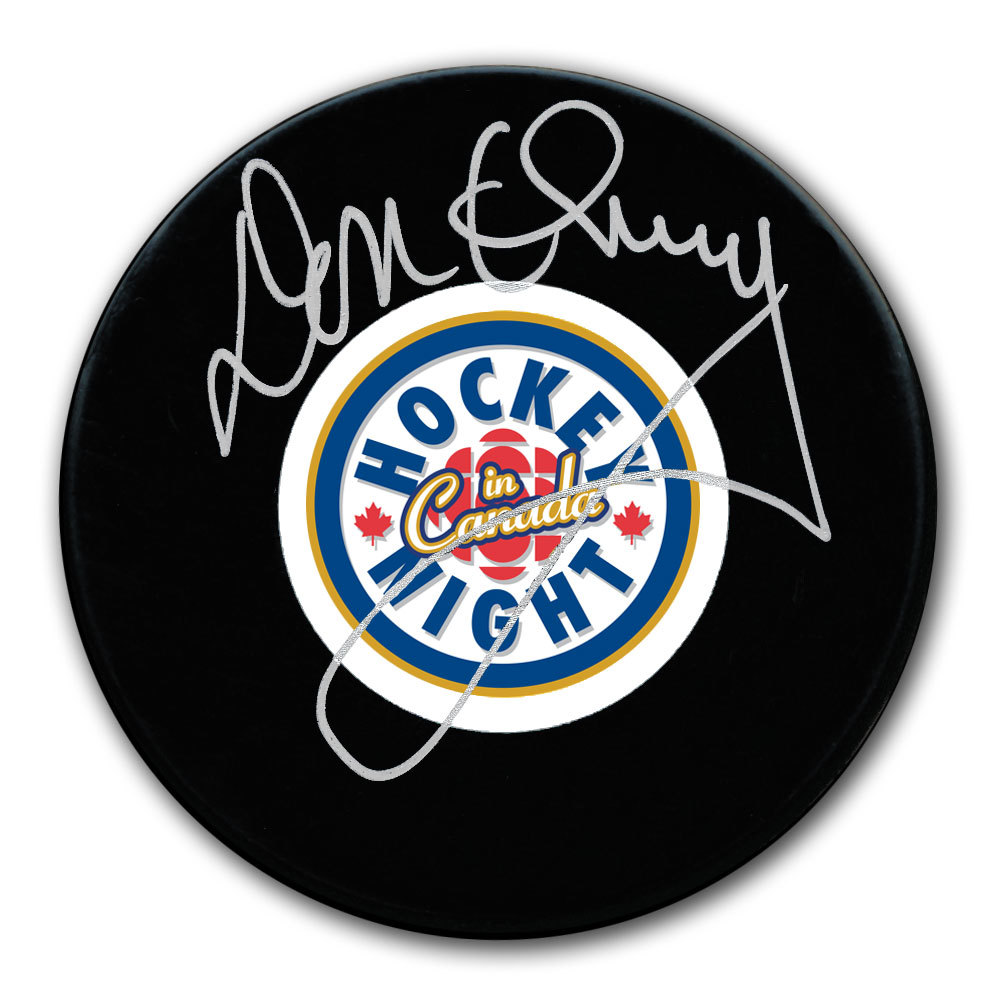 Don Cherry Hockey Night In Canada HNIC Autographed Puck
