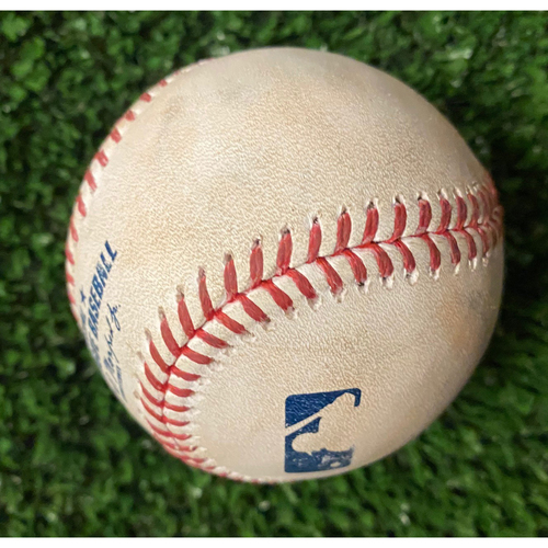 Photo of Will Smith Strikeout Ball of Will Smith - 10/17/21 NLCS Game 2 - Also pitched to Austin Barnes