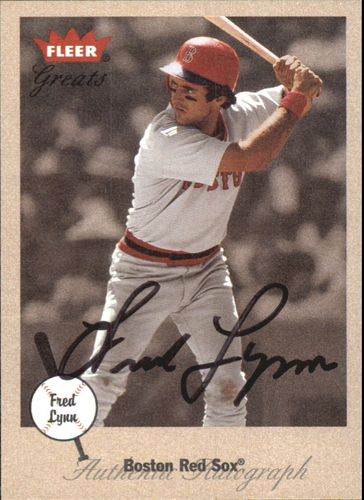 Photo of 2002 Greats of the Game Autographs #FL Fred Lynn