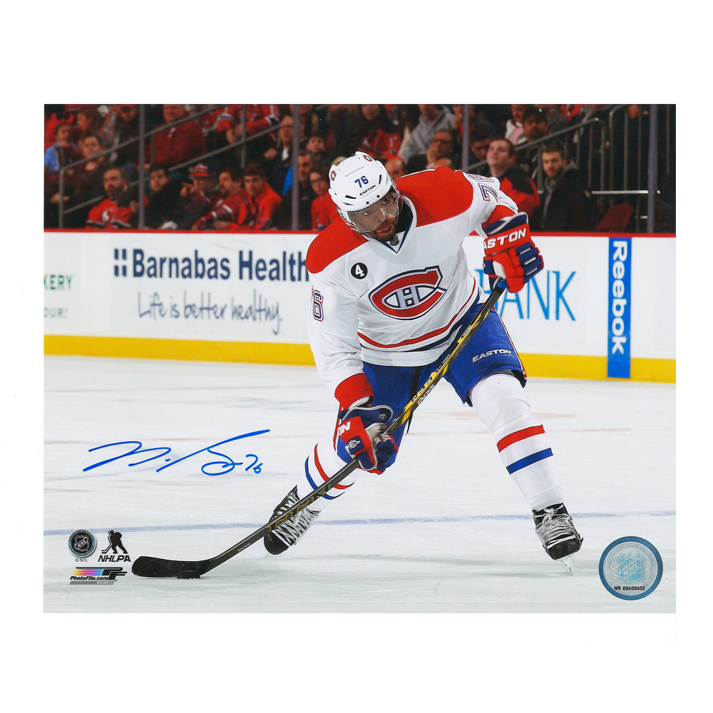 P.K. SUBBAN Signed Montreal Canadiens 8 X 10 Photo - 70205 A