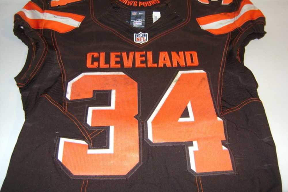 NFL Auction   BCA - BROWNS ISAIAH CROWELL GAME WORN BROWNS JERSEY ...