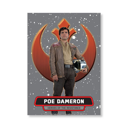Poe Dameron 2016 Star Wars The Force Awakens Chrome Metal Poster - # to 99