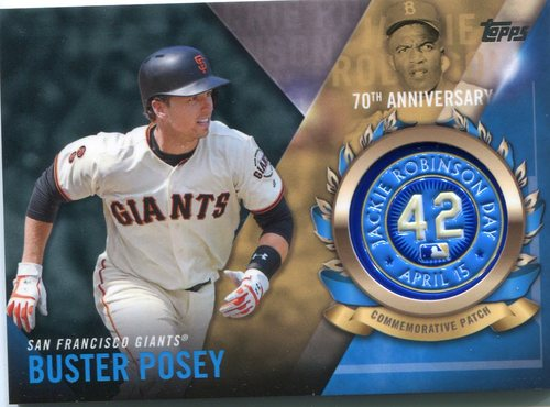 Photo of 2017 Topps Jackie Robinson Logo Patches #JRPCBP Buster Posey
