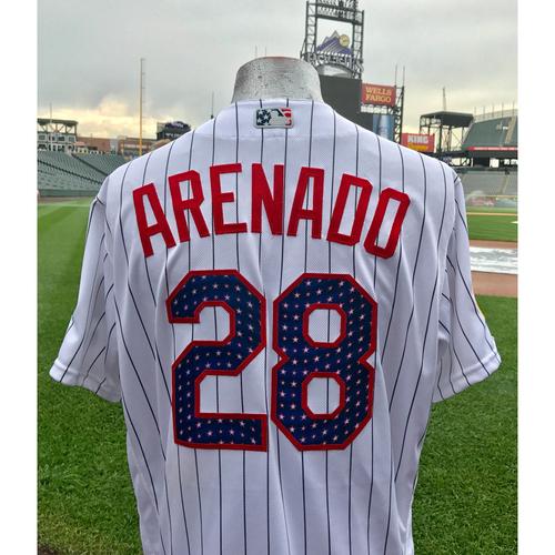 Colorado Rockies Nolan Arenado Game-Used Stars and Stripes Jersey