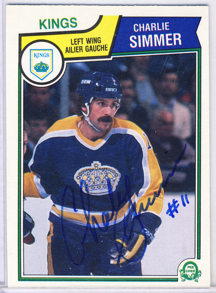 Charlie Simmer Los Angeles Kings Autographed Hockey Card