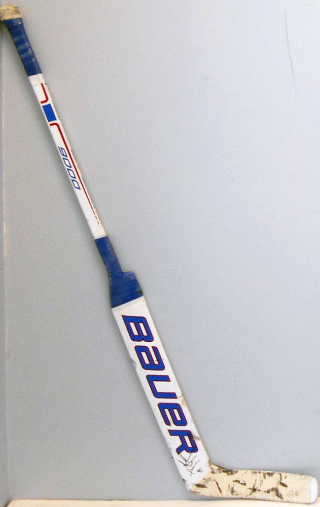 #30 HenrikLundqvist Game Used Stick - Autographed - New York Rangers