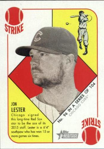 Photo of 2015 Topps Heritage '51 Collection #96 Jon Lester