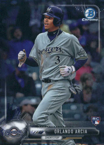 Photo of 2017 Bowman Chrome #77A Orlando Arcia RC