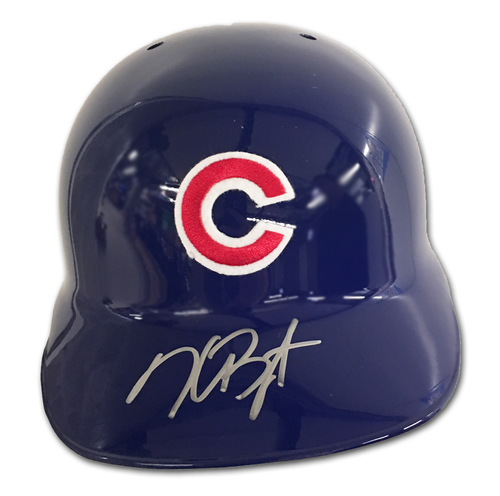 Photo of Kris Bryant Autographed Batting Helmet