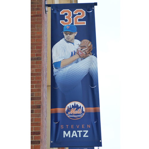 Photo of Steven Matz #32 - Citi Field Banner - 2017 Season